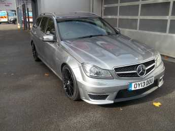 Mercedes-Benz C Class 6.2 C63 5dr Auto Estate Petrol Silver at Island Garage Stafford