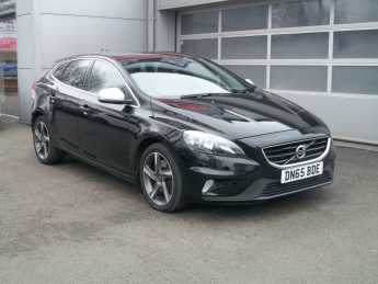 Volvo V40 1.5 T2 [122] R DESIGN 5dr Geartronic Hatchback Petrol Black at Island Garage Stafford