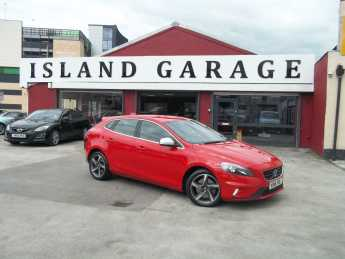 Volvo V40 2.0 D3 [4 Cyl 150] R DESIGN Nav 5dr Hatchback Diesel Red at Island Garage Stafford