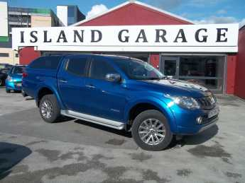 Mitsubishi L200 2.4 Double Cab DI-D 178 Warrior 4WD Auto Pick Up Diesel Blue at Island Garage Stafford