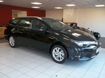 Toyota Auris 1.8 Hybrid Icon Tech TSS 5dr CVT Estate Petrol / Electric Hybrid Black at Island Garage Stafford